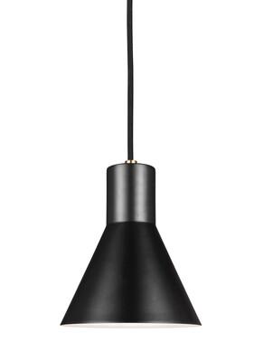 Satin Bronze / Black One Light Mini Pendant