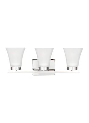 Chrome Three Light Vanity Fixtures