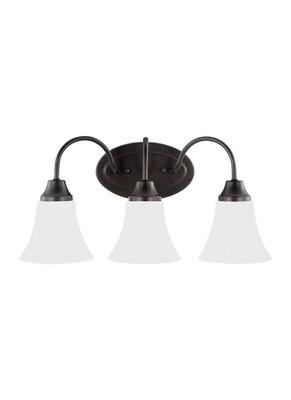 Heirloom Bronze Three Light Vanity Fixtures