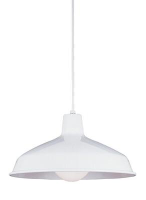 White One Light Pendant