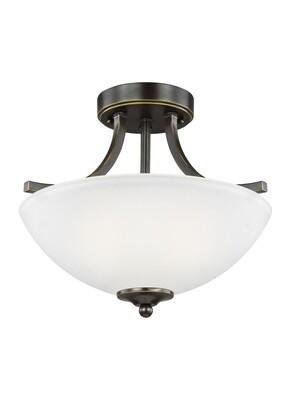 Heirloom Bronze Two Light Semi-Flush Convertible