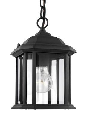 Black One Light Pendant