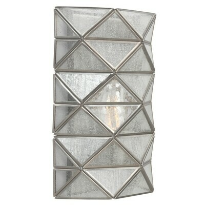 Antique Brushed Nickel One Light Wall Sconce