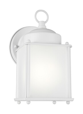 White One Light Wall Mount