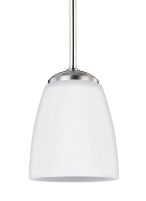 Brushed Nickel One Light Mini Pendant