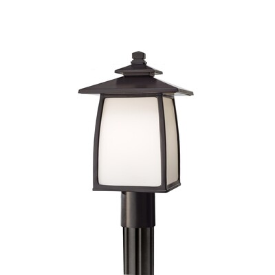 Oil Rubbed Bronze One Light Post Mount