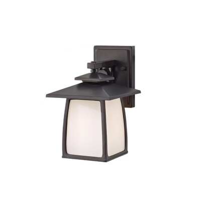 Oil Rubbed Bronze One Light Wall Mount
