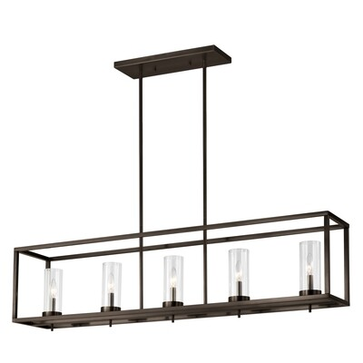 Brushed Oil Rubbed Bronze Five Light Island Pendant