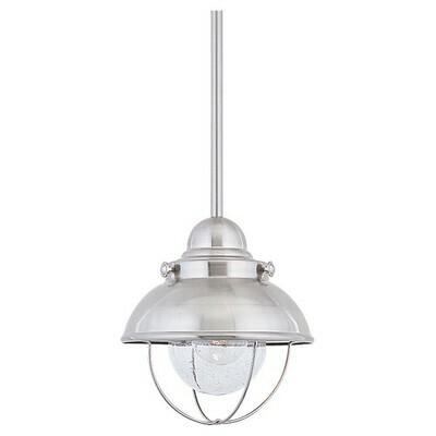 Brushed Stainless One Light Pendant