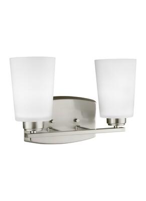 Brushed Nickel Two Light Vanity Fixtures