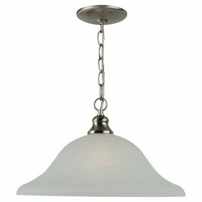 Brushed Nickel One Light Pendant