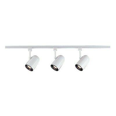 White Three Light Track Lighting Kit