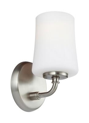 Satin Nickel One Light Vanity Fixtures