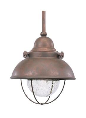 Weathered Copper LED Pendant