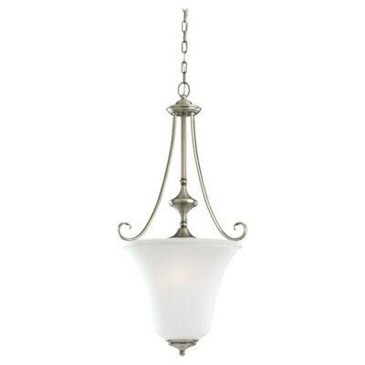 Antique Brushed Nickel Three Light Pendant