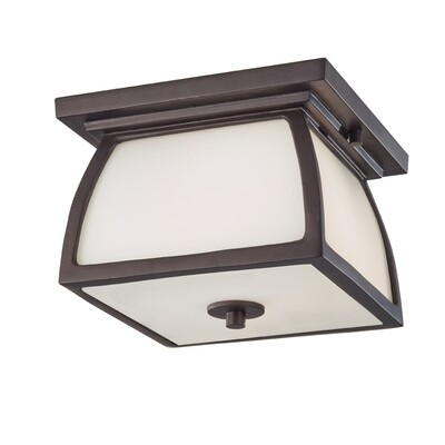 Oil Rubbed Bronze Two Light Ceiling Mount