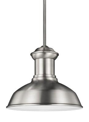 Satin Aluminum One Light Pendant