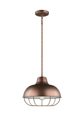 Weathered Copper One Light Pendant