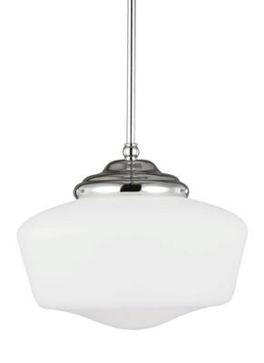 Chrome One Light Pendant