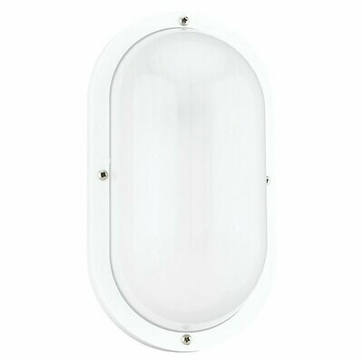 White One Light Wall/Ceiling Fixtures