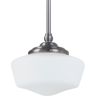 Brushed Nickel One Light Pendant
