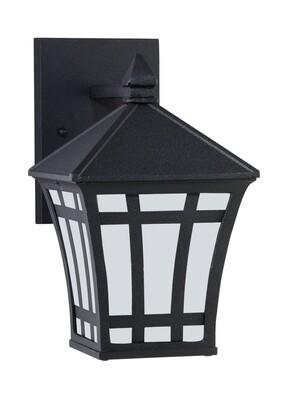 Black One Light Wall Mount