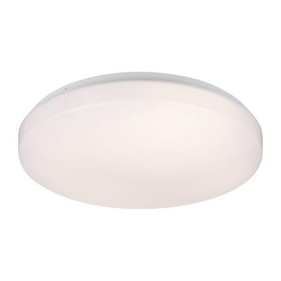 White Three Light Flush Mount