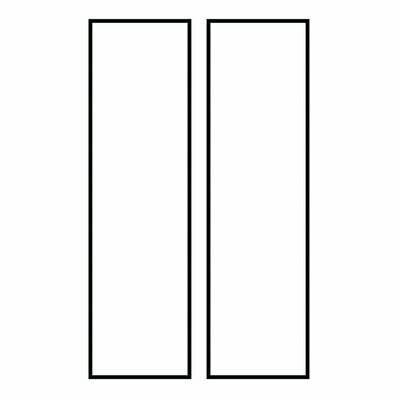 White Plastic Address Lights/Signs