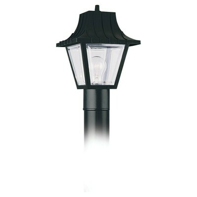 Clear One Light Post Mount
