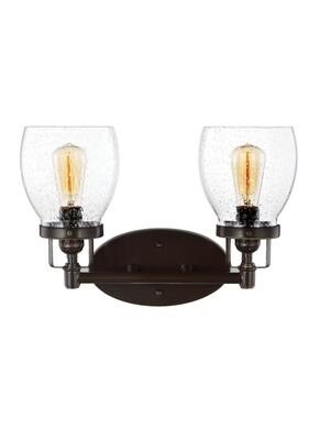 Heirloom Bronze Two Light Vanity Fixtures