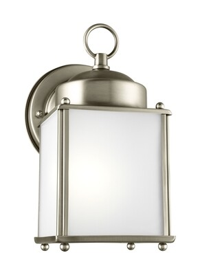 Antique Brushed Nickel One Light Wall Mount
