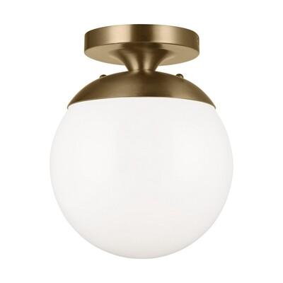 Satin Bronze One Light Semi-Flush Mount