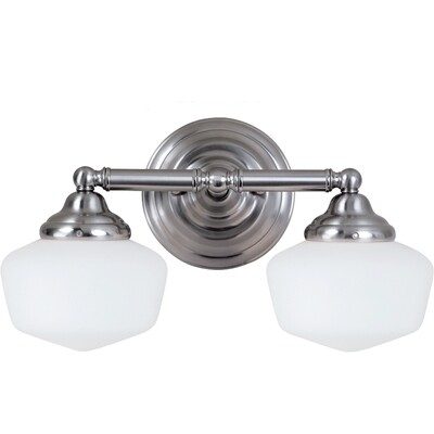 Brushed Nickel Two Light Vanity Fixtures