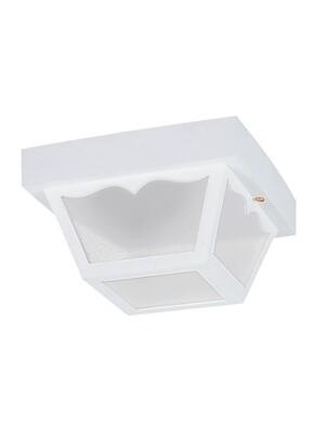 White One Light Ceiling Mount