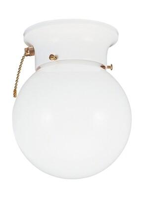 White One Light Flush Mount