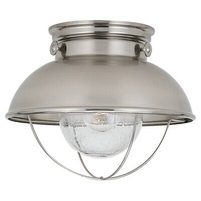 Brushed Stainless One Light Ceiling Mount