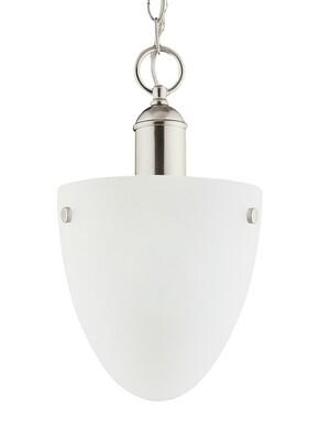 Brushed Nickel One Light Semi-Flush Mount