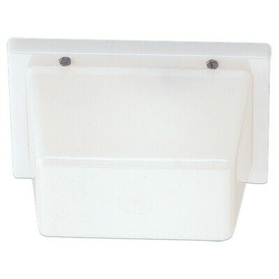 White Plastic One Light Wall/Ceiling Fixtures
