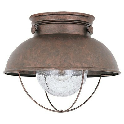 Weathered Copper One Light Ceiling Mount