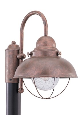 Weathered Copper One Light Post Mount