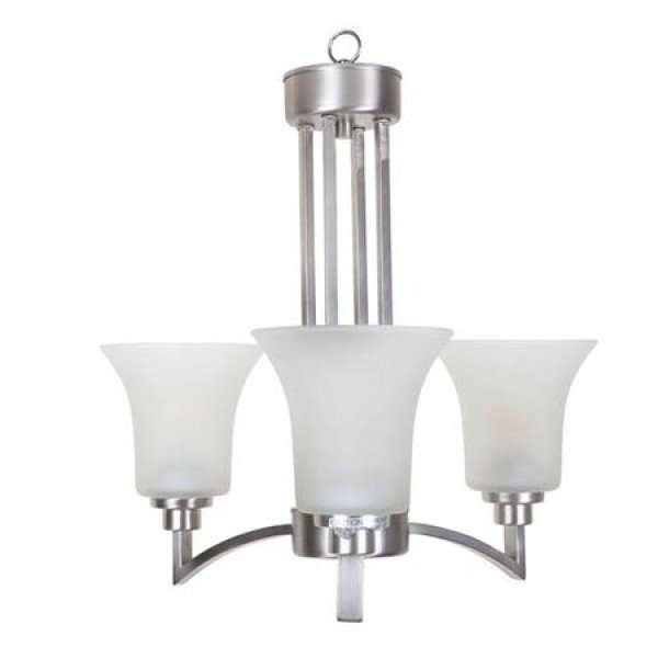 Alderidge Satin Nickel 3Lt Chandelier