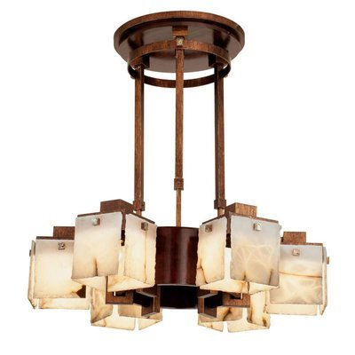 Bedford Antique Copper 6Lt Chandelier