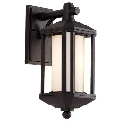 Black 1 Light Wall Lantern