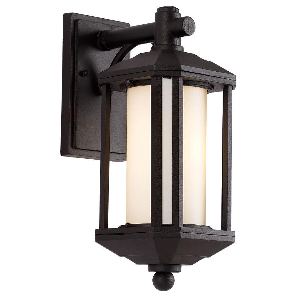 Black 1 Light Wall Lantern T-106382