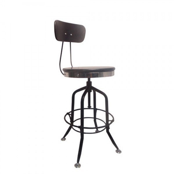 Black Adjustable Height Stool B-702398
