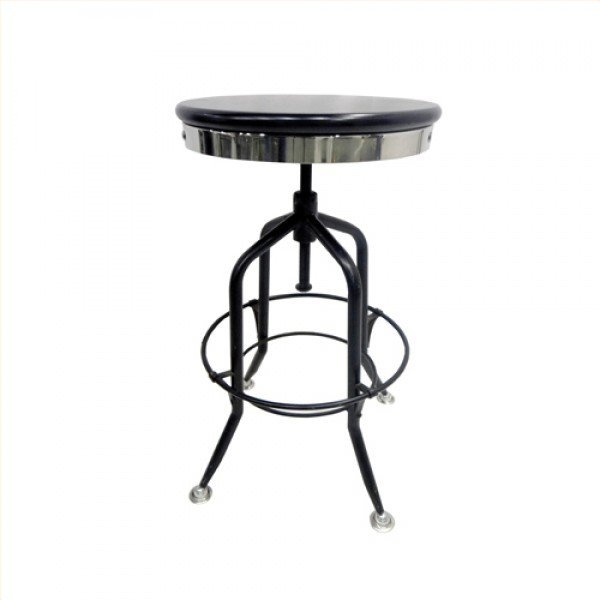 Black Adjustable Height Stool B-702399