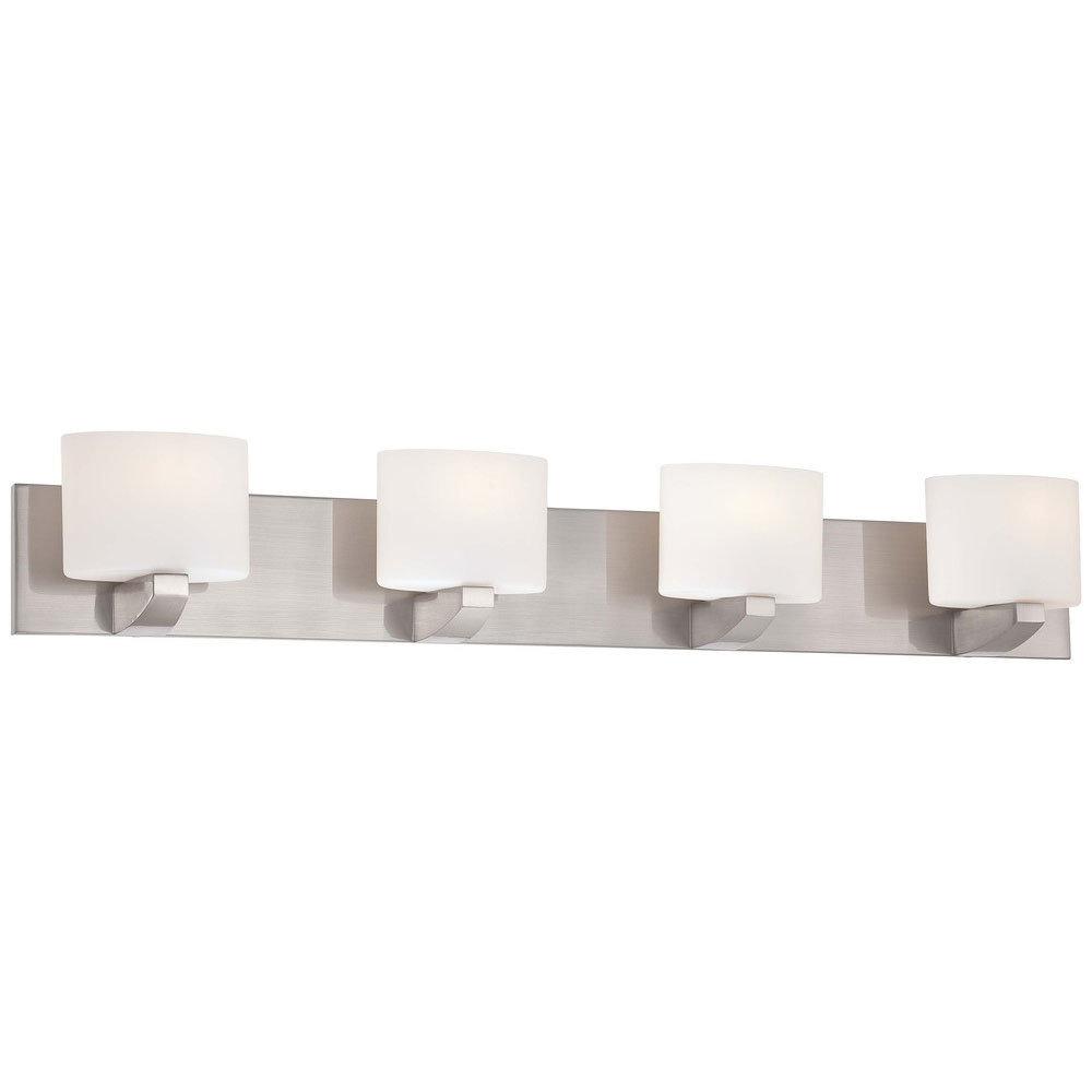 Craftsman Brushed Nickel 4Lt Bath Bar B-997517