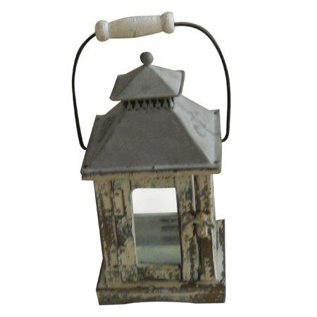 Distressed Finish Candle Lantern B-700682