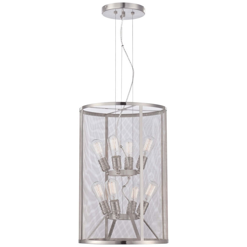 Downtown Edison Brushed Nickel 8Lt Pendant T-997525