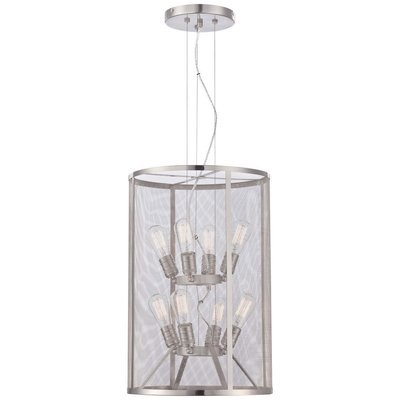 Downtown Edison Brushed Nickel 8Lt Pendant